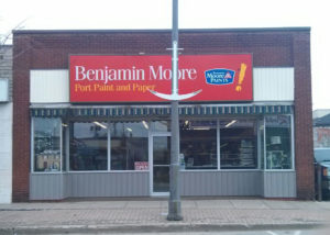 Benjamin Moore Port Paint and Paper Storefront